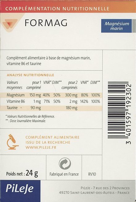 Formag - Informations nutritionnelles - fr