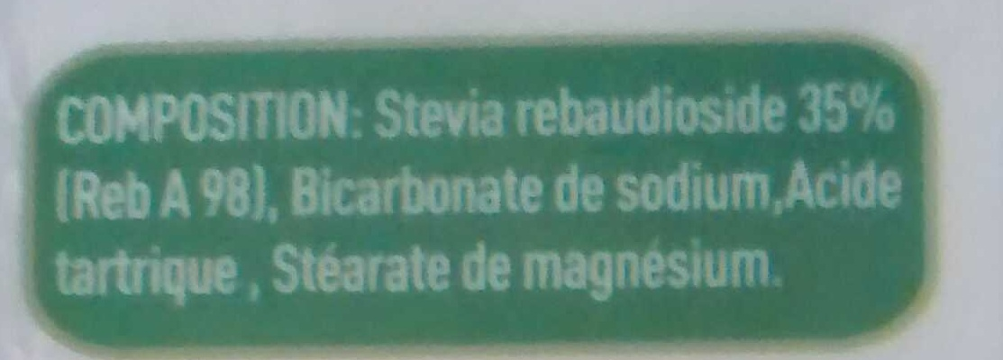 Stevia - Ingrédients