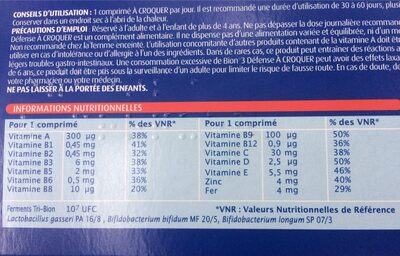 Bion 3 - Nutrition facts