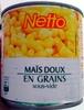 Maïs doux en grains sous-vide - Produit