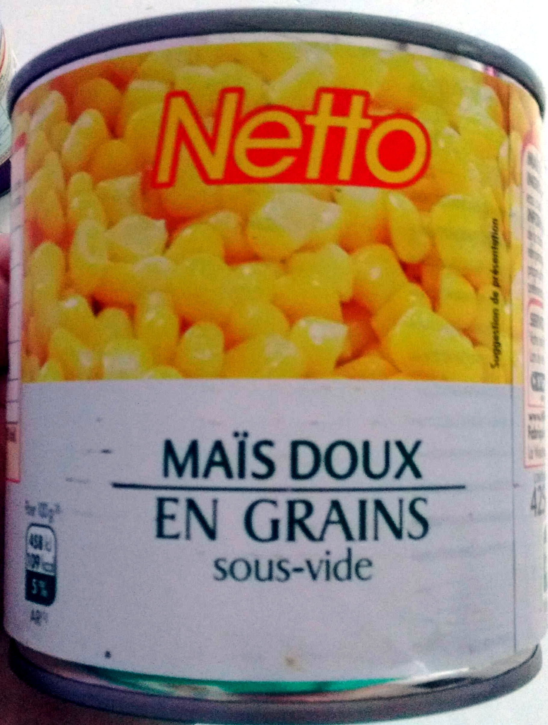 Maïs doux en grains sous-vide - Product - fr