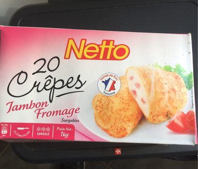 20 crepe jambon fromage - Product - fr