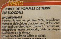Purée nature en flocons - Ingrédients - fr