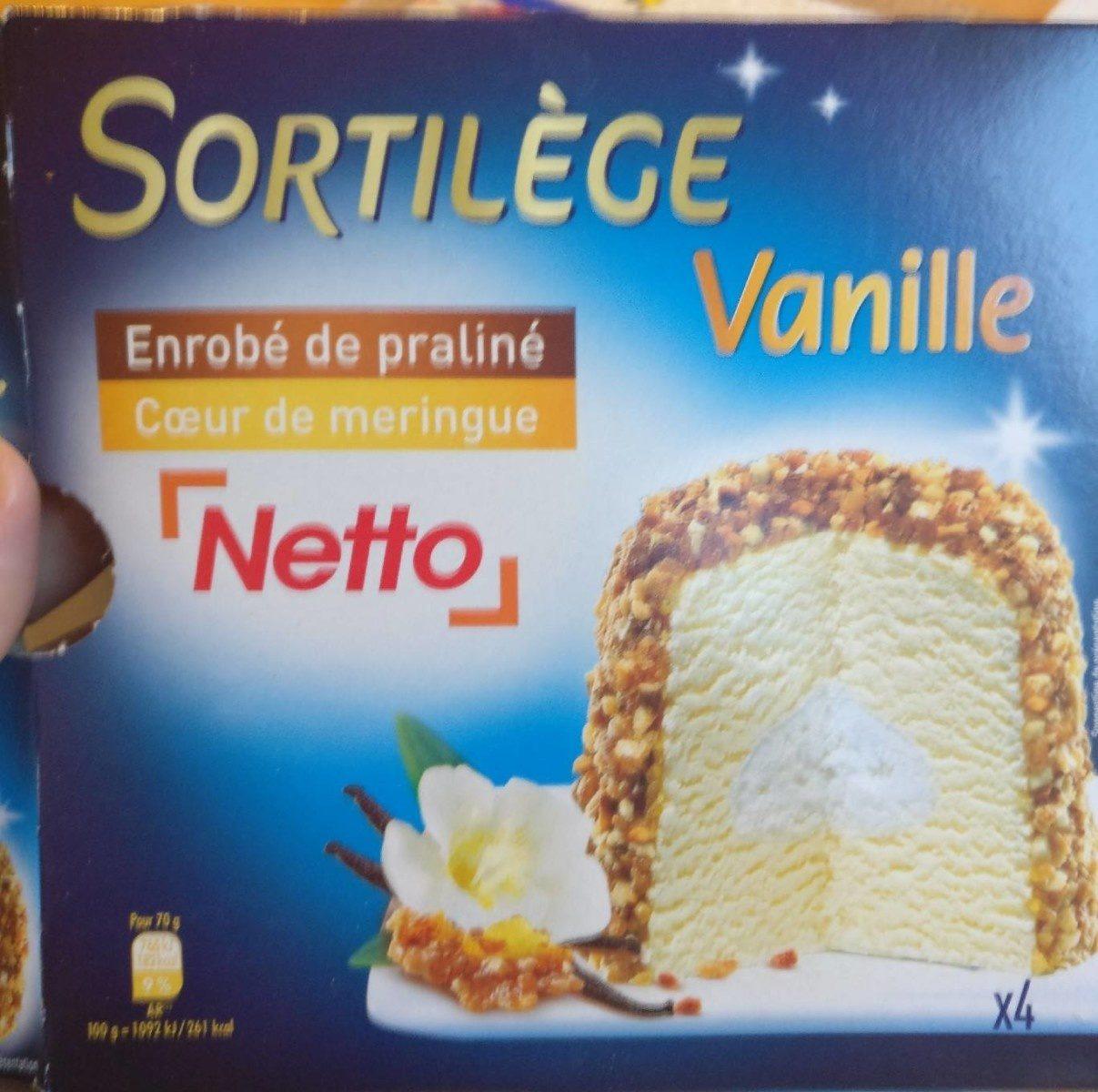 Sortilège Vanille Enrobé de Praliné, Cœur de Meringue - Produit