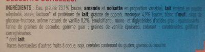 Sortilège Vanille Enrobé de Praliné, Cœur de Meringue - Ingrédients