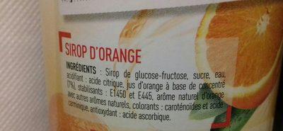 Sirop d'orange nettoyage - Ingrédients - fr