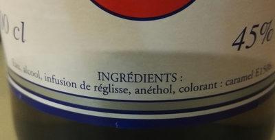 Pastis - Ingredienti - fr
