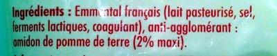 Emmental français râpé - Ingrédients - fr