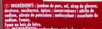Jambon Cru Fumé - Ingrédients