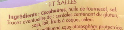 Cacahuètes grillées et salées - Ingrédients - fr