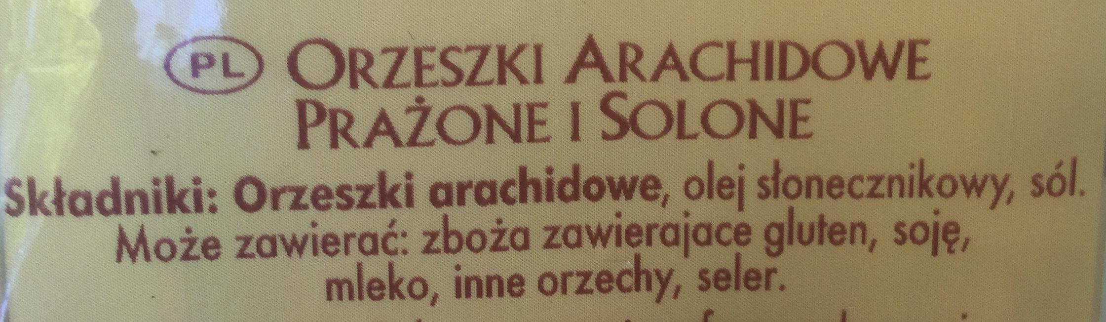 Cacahuètes grillées et salées - Składniki
