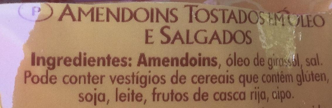 Cacahuètes grillées et salées - Ingredientes
