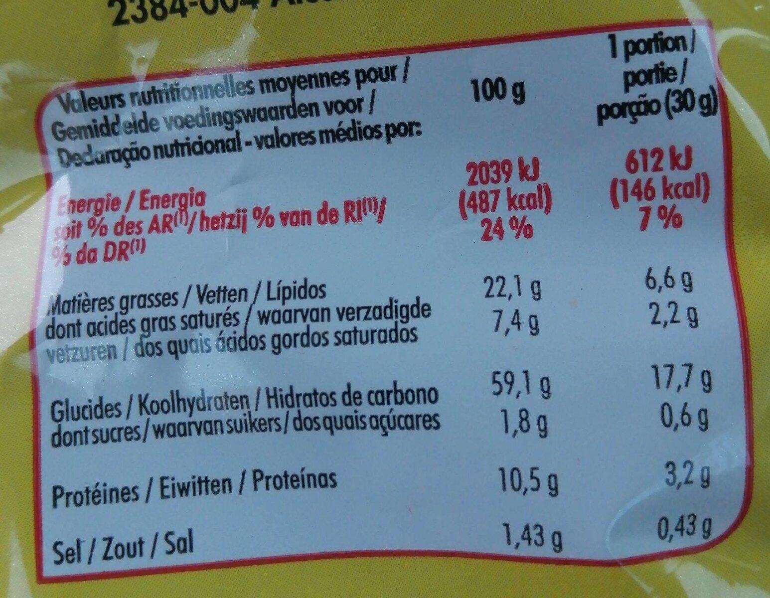 Soufflé à la cacahuète - Voedingswaarden - fr