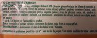 Tartelettes à l'abricot - Ingrédients - fr