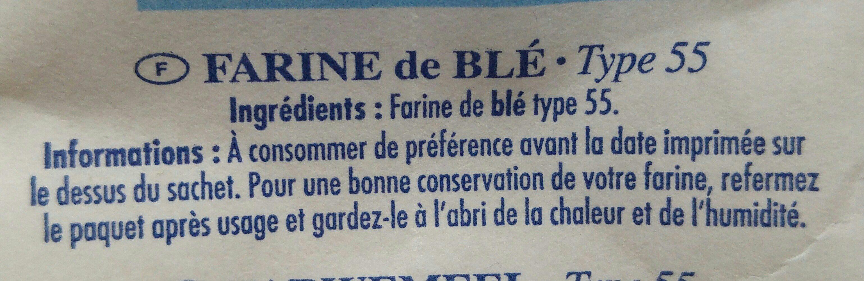 Farine de blé T55 - Ingredients - fr