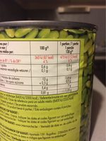 Flageolets verts fins - Nutrition facts - fr