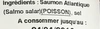 Saumon du pacifique fumé - Ingrediënten - fr