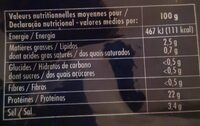 Saumon du pacifique fumé - Voedingswaarden - fr