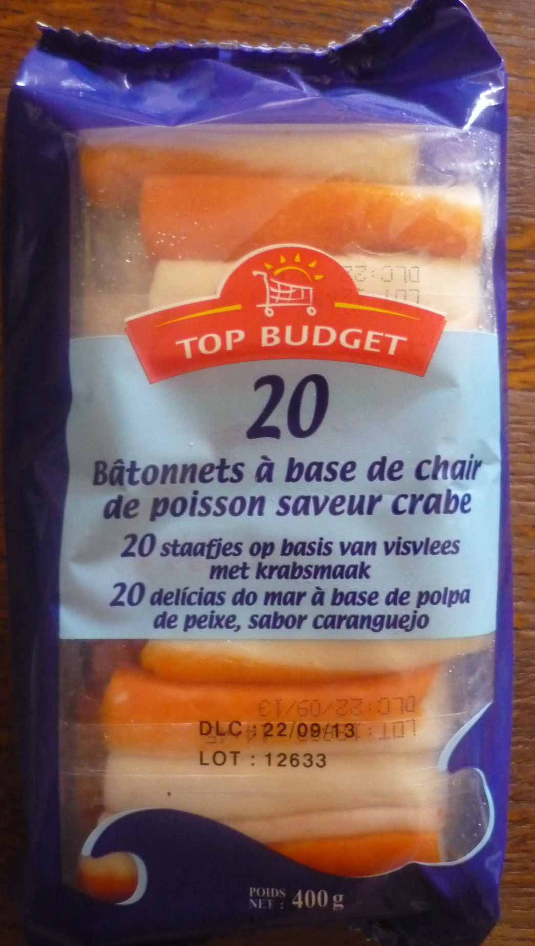 20 Bâtonnets saveur crabe - Product