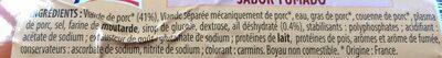 Saucisson cuit a l'ail gout fume, le - Ingrediënten - fr