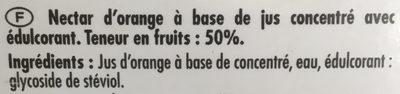 Nectar d'Orange - Ingrediënten - fr