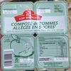 Compote de pommes allégée en sucres - Produit