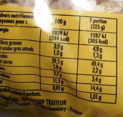 Tortellini viande - Informations nutritionnelles - fr