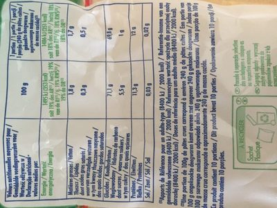 Coquilletes 1 Kg - Ingrédients