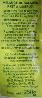 Salade mélangée - Ingredients - fr