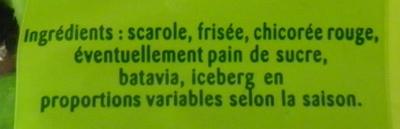 Salade mélangée - Ingrediënten