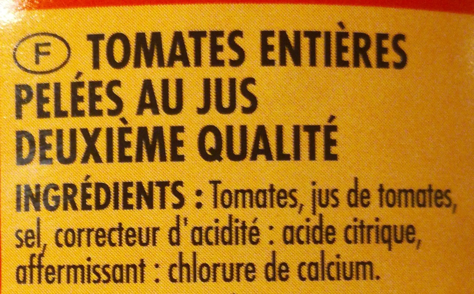 Tomates entières pelées 4/4 - Ingredients - fr