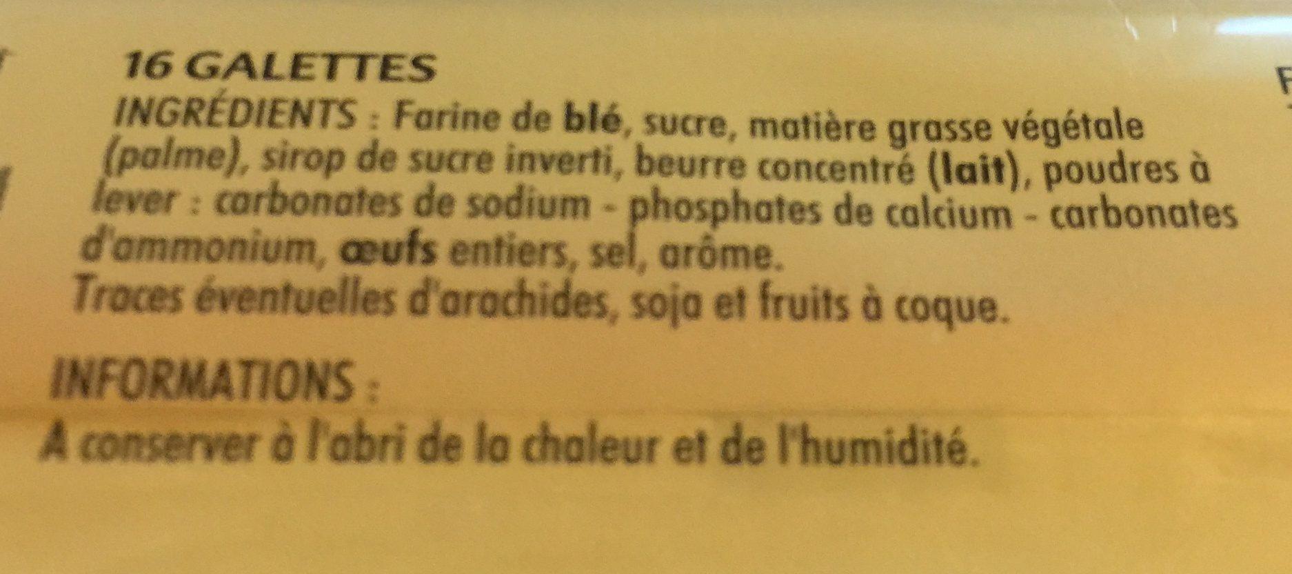 Galettes - Ingrediënten