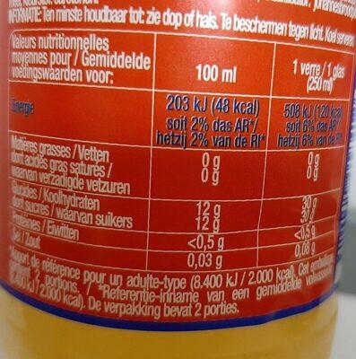 Orange - Voedingswaarden - fr