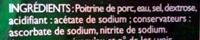 Lardons Nature - Ingredients - fr