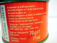 Double concentré de tomates (28%) - Nutrition facts - fr