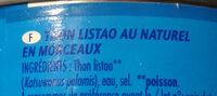 Thon Listao au naturel en morceaux - Ingredienti - fr