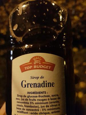 sirop de grenadine - Ingredients - fr