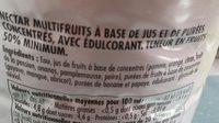 Nectar Multifruits - Ingrediënten