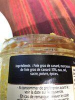 Bloc de foie Gras de Canard - Ingrediënten