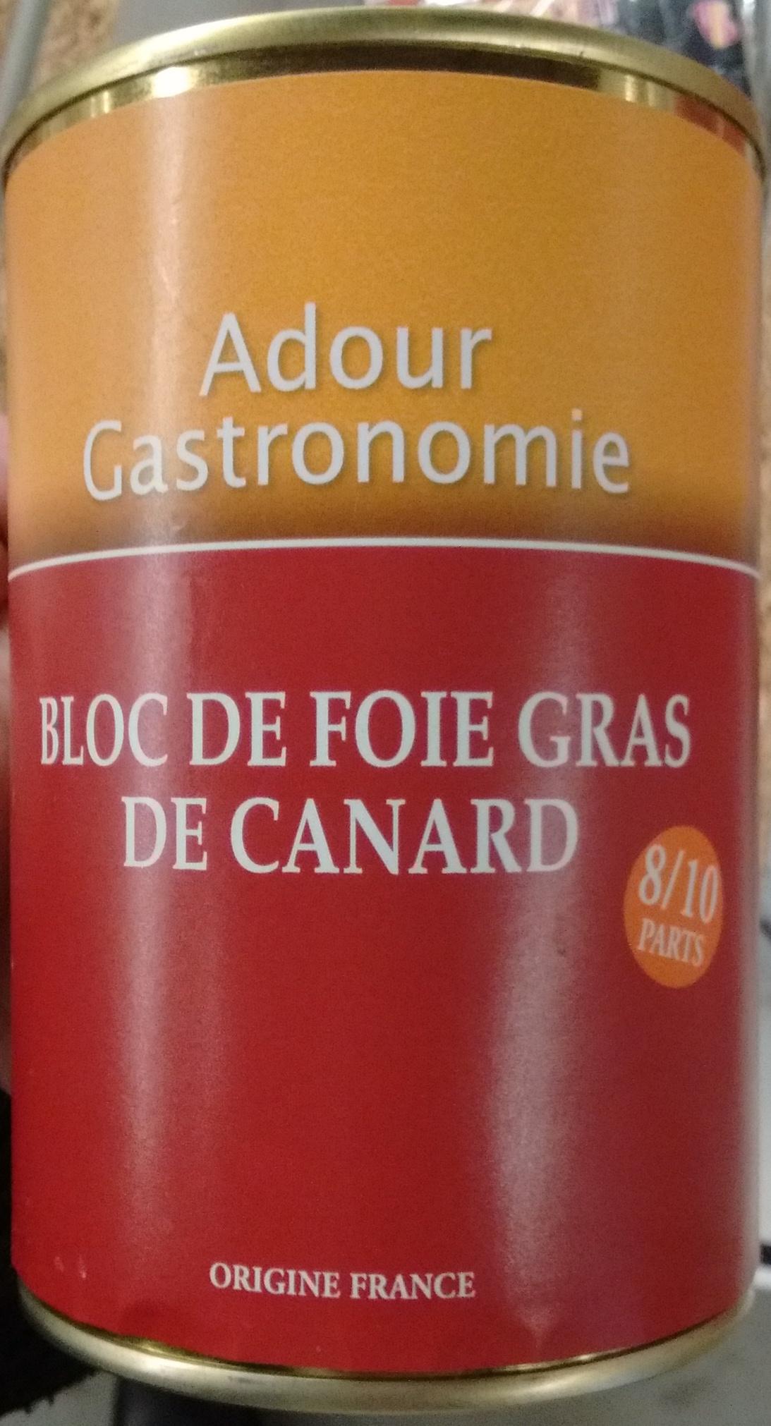bloc de foie gras de canard adour gastronomie