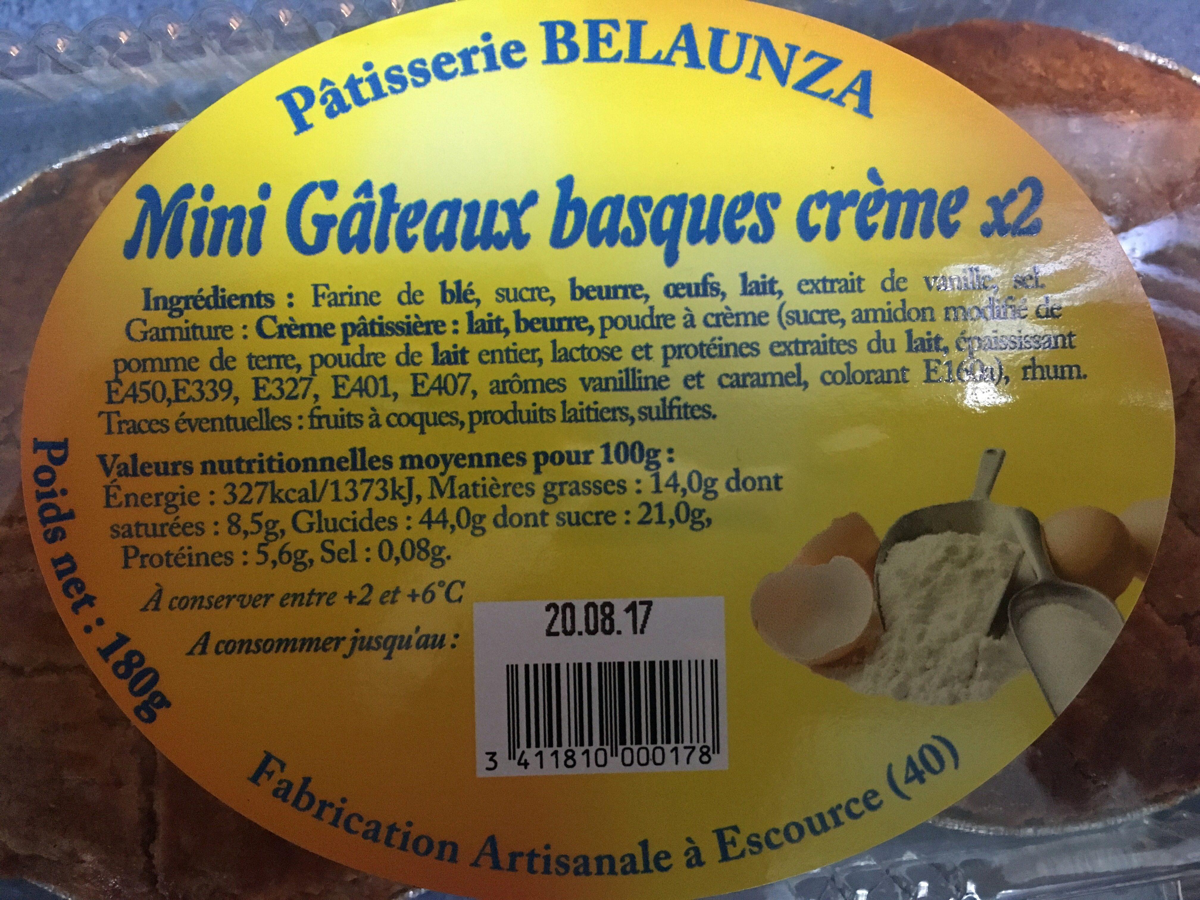 Mini gâteaux basques crème x2 - Product - fr