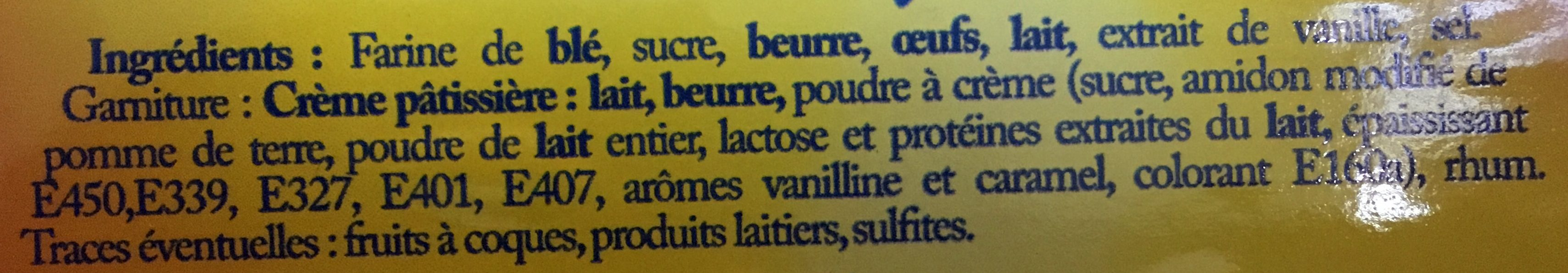 Mini gâteaux basques crème x2 - Ingrediënten - fr