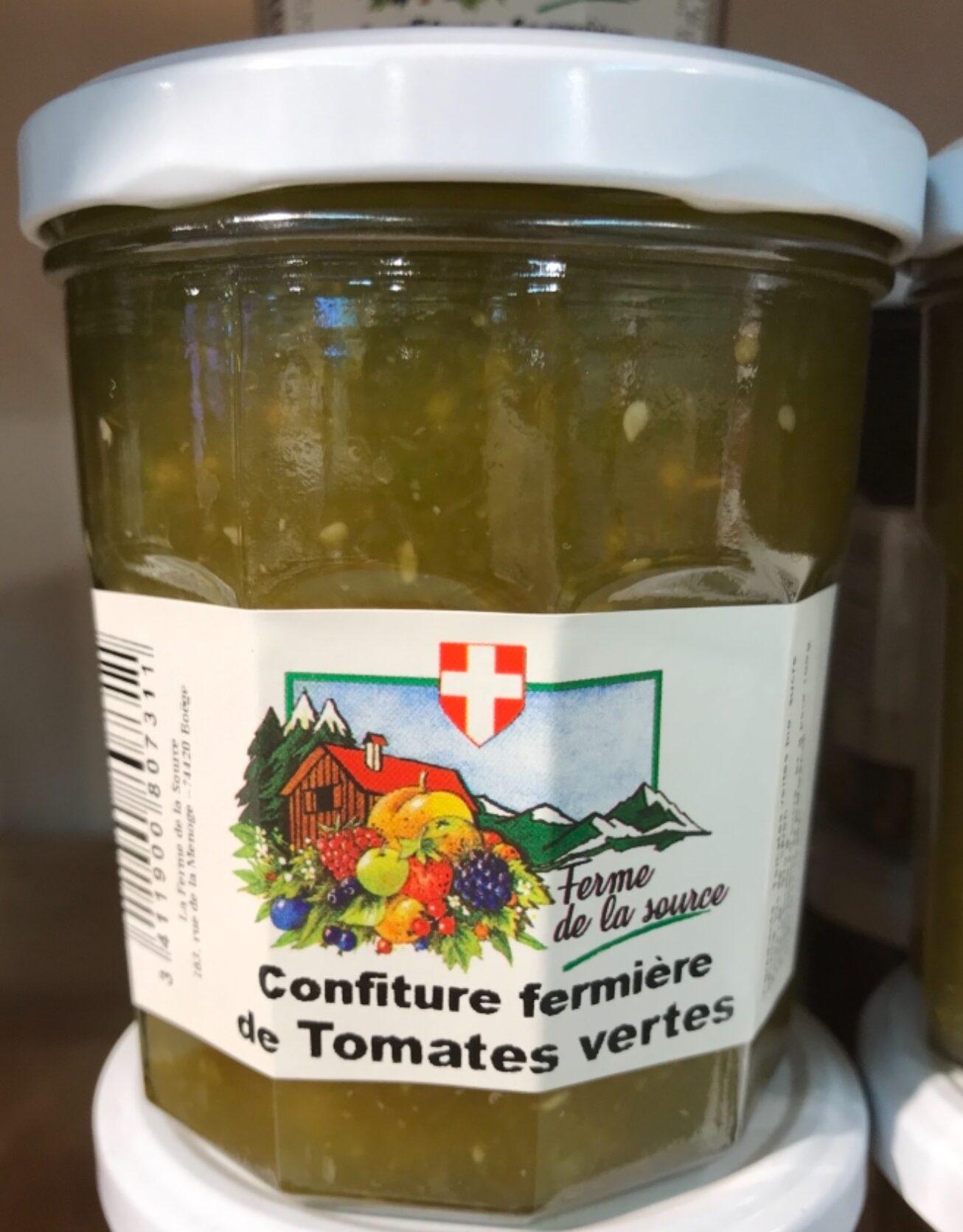Confiture fermière de tomates vertes - Product