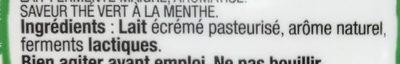Le Lait Fermenté saveur Thé vert à la menthe - Ingredients - fr