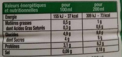 Le Lait Fermenté Extra Doux - Informations nutritionnelles - fr