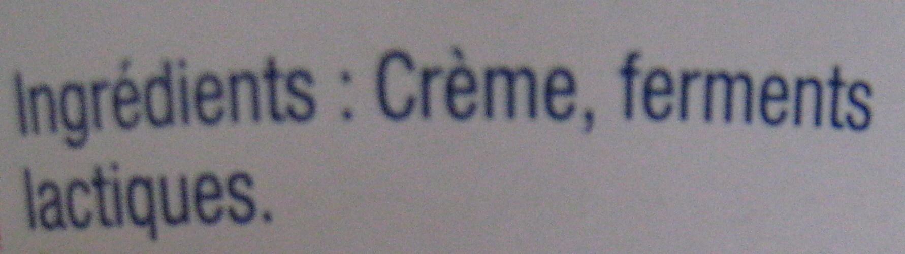 La Crème Fraîche Epaisse Paysan Breton - Ingredients