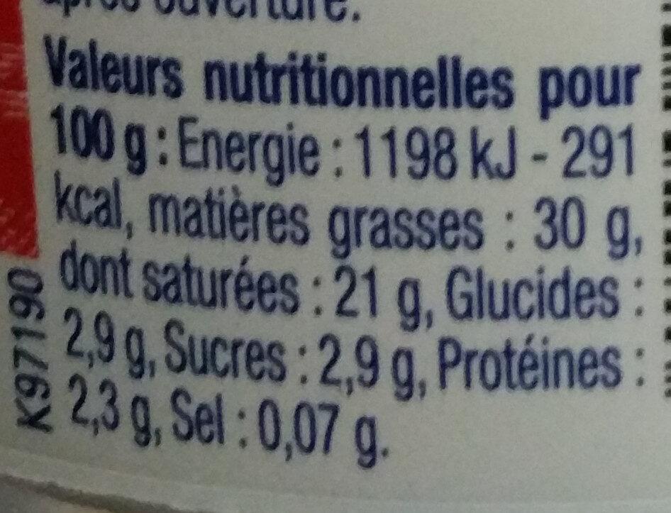 La Crème Fraîche Epaisse Paysan Breton - Nutrition facts