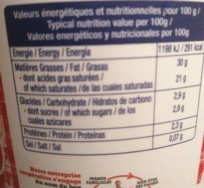 La crème fraîche épaisse - Informations nutritionnelles - fr