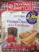Les Crêpes au Fondant Chocolat & à la Framboise - Produit - fr
