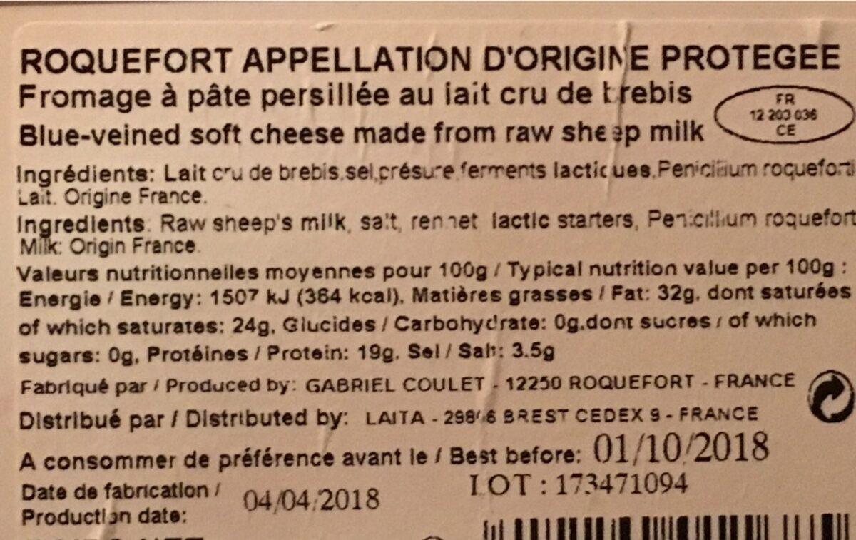 Roquefort - Ingrédients - fr